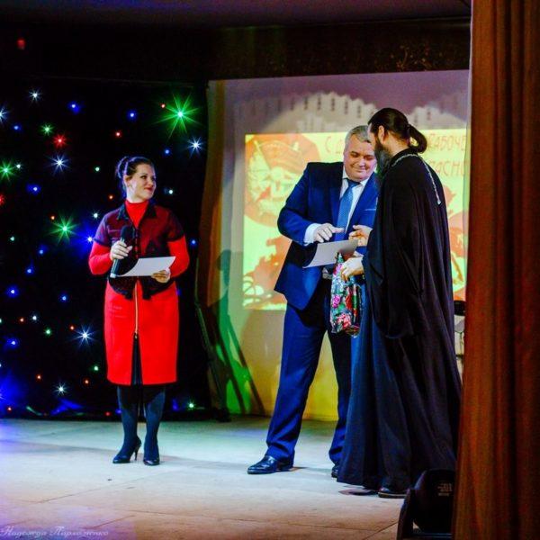 Награждение отца Сергия Шерфетдинова дипломом лауреата II-й степени